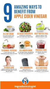 9 ways to benefits from Apple Cider Vinegar