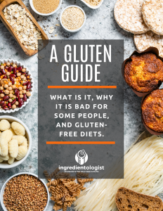 A Gluten Guide by Ingredientologist