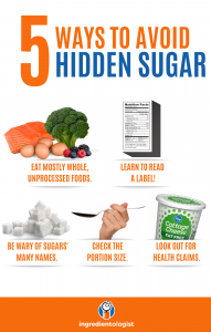 5 Ways to avoid hidden sugar